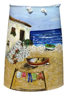 Casa de pescador. Teja pintada