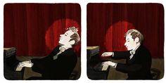 Track the progress of Sandrine Revel's graphic novel on Glenn Gould on aboutgould.blogspot.com
