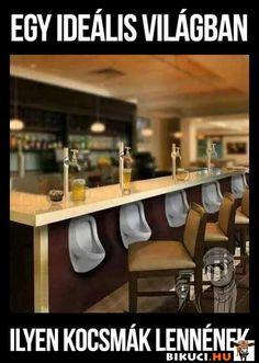 Egy ideális világban ilyen kocsmák lennének Vicces képek #humor #vicces #vicceskep #vicceskepek #humoros #vicc #humorosvideo #viccesoldal #poen #bikuci Funny Cute, Liquor Cabinet, Haha, Decor, Humor, Decoration, Ha Ha, Decorating, Deco