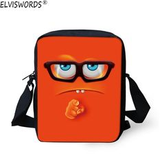 7c7d31d4904 ELVISWORDS 2017 Funny Emoji Print School Bags For Baby Child Mini Girls  Boys Bookbag Children Mochila