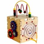The Cutie Cube combines multiple activities into one neat package that enriches basic learning skills. The sides feature simple versions of our pathfinder, gears, ziggidy zag and magnet circle express. The top boasts two bead maze tracks. All these toys in one ensure kids won't get bored while playing.The activities help to build on visual tracking, color recognition, fine/gross motor skills and hand%2Deye coordination. It works great in offices, doctors offices, and classrooms.