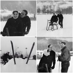 Audrey and Mel in Klosters,Switzerland,1957