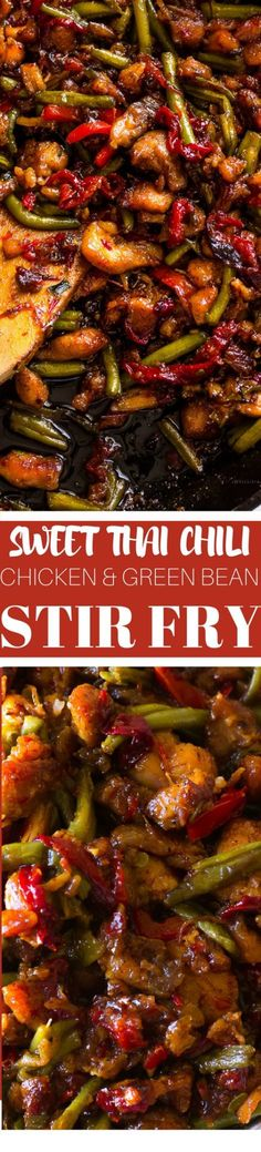 Chicken and Green Bean Stir Fry (With Sweet Chii Sauce
