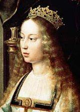 Isabel I de Castilla - Isabel la Católica  Nació el 22 de abril de 1451 en Madrigal de las Altas Torres.  Hija de Juan II y de su segunda mujer Isabel de Portugal.  A la muerte de su padre, en 1454, ocupó el trono su hermanastro Enrique IV (apodado el Impotente). La princesa Isabel fue enviada junto a su madre, Isabel de Portugal, a Arévalo, cerca de Medina del Campo, a cuyo castillo de la Mota se sentía estrechamente vinculada.