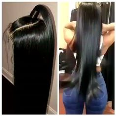 Straight Human Hair Wigs For Black Women Affordable 360 Full Lace Wig Human Hair Free Part Natural C - Best Frisuren Frontal Hairstyles, Wig Hairstyles, Straight Hairstyles, Female Hairstyles, Hairstyle Men, Funky Hairstyles, Beautiful Hairstyles, Curly Hair Styles, Natural Hair Styles