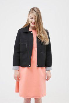 Neoprene Jersey Jacket Black - THE WHITEPEPPER