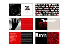 Designed by Carin Goldberg. Archive Music, Booklet Design, Marvin Gaye, Album Covers, Blues, Typography, Website, Type, Inspiration