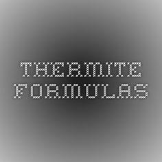 Thermite Formulas