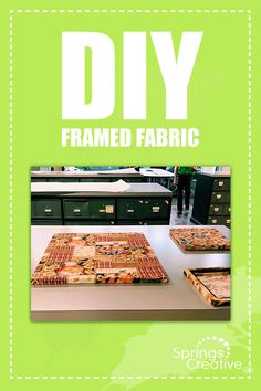Quick & easy!  🖼 FLOATING FRAME #DIY 🖼  Have an extra, old, or broken #FloatingFrame laying around? Try this! - Unscrew your floating frame, but keep the hanger - Use double sided tape on the edges - Cut your fabric 2 inches out on each side from the frame - Wrap the cloth over the frame - Pop the back frame in - Hang it up! If you try this DIY, tag us on IG  Fabric design by ©️Susan Winget  Sold by Springs Creative via Amazon & Fabric.com