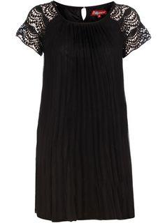 Dorothy Perkins Black crochet sleeve dress