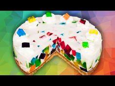 Broken Glass Cake With Angel Food Cake