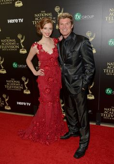 "2014 Daytime Emmy Awards - Actress Ashlyn Pearce (best known as Ally Forester) with actor Winsor Harmon (best known as Thorne Forrester, father to Ally Forester) on CBS Daytime soap opera ""The Bold and the Beautiful. Soap Shows, Tv Soap, Bold And The Beautiful, Be Bold, Golden Globes, Favorite Tv Shows, Actors & Actresses, Awards, Glamour"