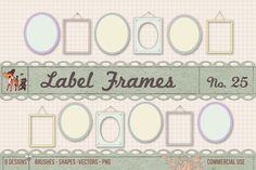 Check out Retro Label Frames Shapes Set No 25 by starsunflowerstudio on Creative Market Photoshop Shapes, Photoshop Brushes, Business Illustration, Digital Illustration, Retro, Graphic Design Programs, Commercial, Digital Journal, Brush Set