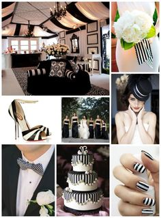 Black & White Wedding Ideas #Black & White wedding receptions ... Wedding ideas for brides, grooms, parents & planners ... https://itunes.apple.com/us/app/the-gold-wedding-planner/id498112599?ls=1=8 … plus how to organise an entire wedding, without overspending ♥ The Gold Wedding Planner iPhone App ♥