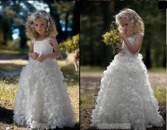 I like everything about this flower girl dress!