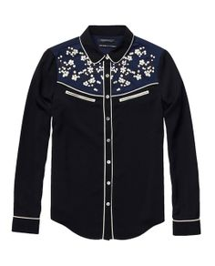 Western Inspired Shirt With Special Embroideries