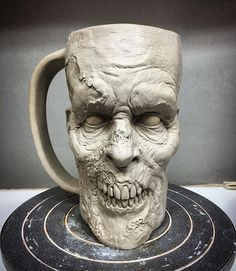 I think he turned out pretty creepy. Can't wait to start laying down the glaze layers. WIP 💀 ------------------------------- #ceramics #walker #pottery #creepy #dark #coffeeaddict #horrorlover #horrorjunkie #nightmare #horrorfan #twd #stoneware #horror #coffee #horroraddict #undead #thewalkingdead #zombiemug #coffeemug #mug #coffeelover #coffeebreak #zombie #zombies #mugsofinstagram #mugaddict #mugcollection