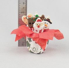 Dollhouse Miniature Christmas Cookie Bouquet by miniholiday, $16.99