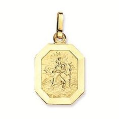 Geelgouden Christoffel Achtkant 12 mm 247.0015.12. Mooie 14 karaats geelgouden Christoffel in de vorm van een achtkant uit de Religiouscollectie. Deze hanger heeft een gladde rand en is 12 mm doorsnede. Op de voorkant van de hanger staat een Christoffel afgebeeld en op de achterkant van de hanger staat niets. https://www.timefortrends.nl/sieraden/gouden-sieraden/gold-collection/hanger.html