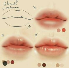 Image result for drawing cute lips