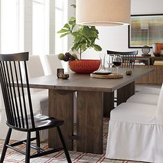 Monarch Dining Table - Crate & Barrel - love the clean lines of this table for formal dining room