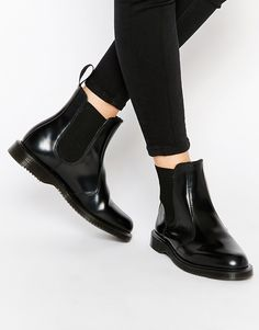 Dr Martens Kensington Flora Black Chelsea Boots Stivali Neri 814760cb0f0