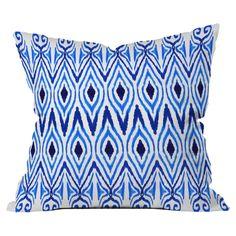 Ikat Blue Pillow - Just Add Color on Joss & Main