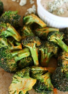 Buffalo Style Roasted Broccoli (Recipe) Also works great with other roasted vegetables like cauliflower, asparagus
