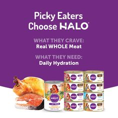 Halo Grain Free Natural Wet Cat Food Variety Pack with Chicken Salmon and Turkey Can Pack of 12 >>> Learn more by visiting the image link. (This is an affiliate link) Chickpea Recipes, Healthy Diet Recipes, Lamb Recipes, Dog Food Recipes, Chicken And Beef Recipe, Canned Cat Food, Wet Dog Food, Cat Health, Picky Eaters