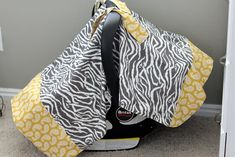 How to make a baby car seat cover - Christmas Present Ideas (Step One, need a sewing machine!)