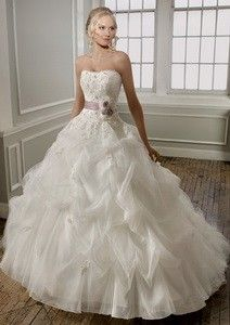 28fa7bf4c50 Ball Gown Sweetheart Catheral Royal Train Tulle Wedding Dress with  Cascading Ruffle Skirt Inspired by Mori Lee 1667