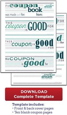 Free Coupon Book Download