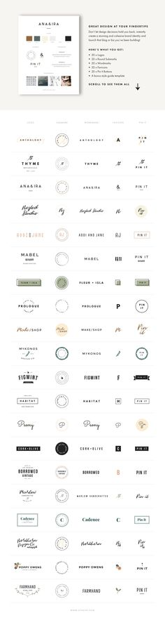 Branding Kit by Station Seven. Instantly create a stunning and cohesive brand identity! Use our branding elements including logos, submarks, favicons, and pin it buttons plus a style guide! Each template has editable graphics for Adobe Photoshop and Illustrator.