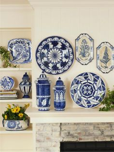0 Porcelain Ceramics, Decorative Plates, Interior Decorating, Sweet Home, Blue And White, Pottery, Tableware, Kitchen, Home Decor