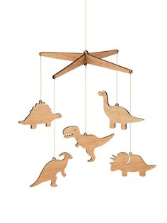 What is it about dinosaurs that just sparks the imagination of children? | Wooden Dinosaur Nursery Baby Mobile  Tasmanian by ByrneWoodware