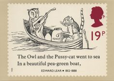 UK - 1988 (stamp commemorating the centenary of Edward Lear's death)