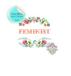 Feminist cross stitch by plasticlittlecovers
