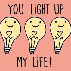 You Light Up My Life 8.5 X 11 Illustration Print By Buck And Libby My Punny Valentine Series by Megan Ball