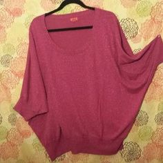 I just discovered this while shopping on Poshmark: Elle Metallic Pink Sweater. Check it out!  Size: 3X