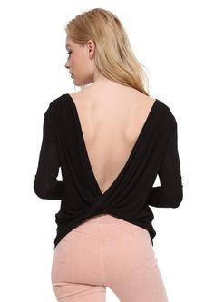 Black Draped Shirt
