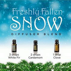 Diffuser Blends -- Freshly Fallen Snow #WhiteFir #Cardamom #Clove