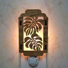 Monstera Tropical Leaf Night Light