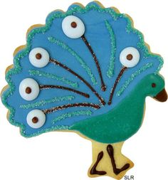 Peacock cookie idea could be a nice DIY takeaway for Char's wedding