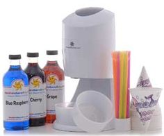 Hawaiian Snow Cone Machine. Very cool website as well. Lots of neat stuff!