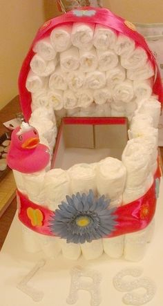 Diaper Cake for Lillian Rose Simpson