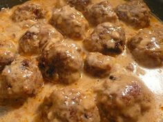 Savory Meatballs in a Homemade Mushroom Soup Sauce -I used 1 can cream of mushroom soup with a little water instead of homemade and was just as tastey!!
