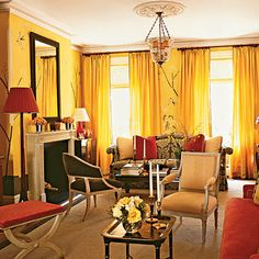 C.B.I.D. HOME DECOR and DESIGN: EXPLORING WALL COLOR: THE WARM TONES Yellow and Gold