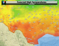 Warmest Day of the Week; Another Cold Front Arrives Tonight  Today will end up being the warmest we'll see for a few days as another strong cold front will push into Texas this evening and overnight. High temperatures this afternoon will be several degrees warmer than on Monday with 40s in the Panhandle and Northwest Texas. We'll see 50s from... Read the whole article at http://texasstormchasers.com/?p=34403 - David Reimer