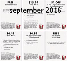 Kfc Coupons PROMO expires May 2020 Hurry up for a BIG SAVERS KFC is a well-known chicken restaurant chain in the United States. Kfc Coupons, Love Coupons, Grocery Coupons, Free Printable Coupons, Free Printables, Coupons For Boyfriend, Coupon Stockpile, Extreme Couponing, Coupon Organization