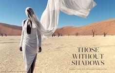 Christoph Köstlin - those without Shadows // 01 // Namibia // Sossusvlei // desert editorial // fashion editorial // black skin // fashion model // african model // south africa // white dress
